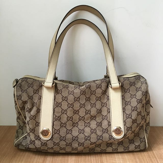 Authentic Gucci Canvas Handbag (Cream)