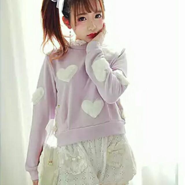 Bobon21 全新愛心紫色針織上衣💜