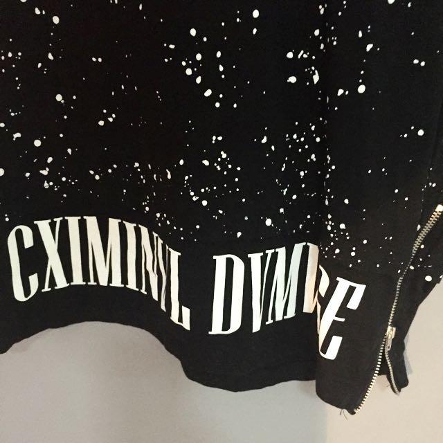 criminal Damages Dress/long Tee