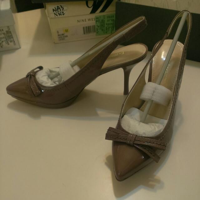 Enzo Angiolini 藕色氣質高跟涼鞋