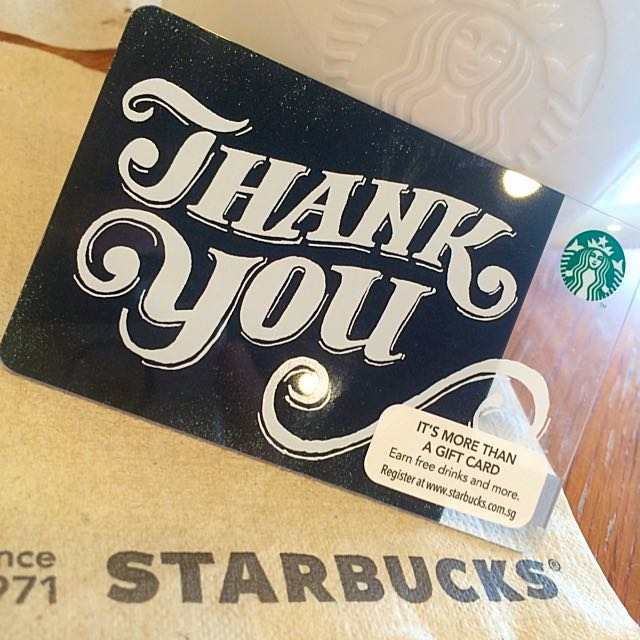 Starbucks Card Thank You Design 2016 Limited Edition Everything