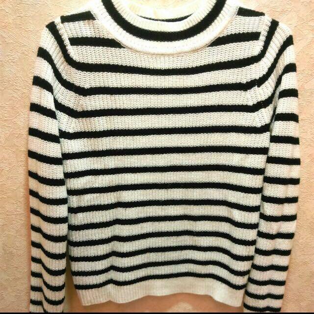 GU 黑白條紋 針織 毛衣