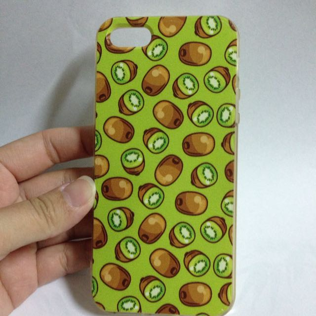 Iphone5 手機殼 i5 奇異果 滿版