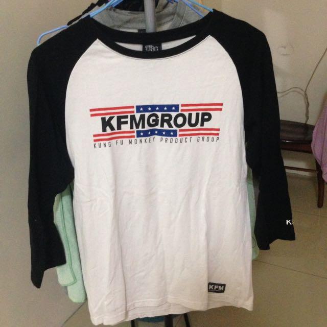 KFM七分袖T恤