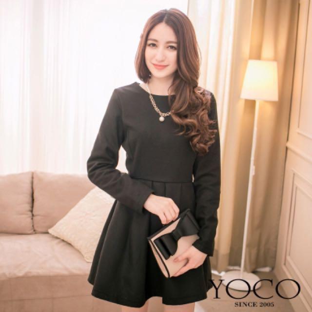 黑色立體洋裝M號 含運