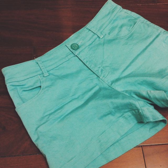 Net 湖水綠短褲