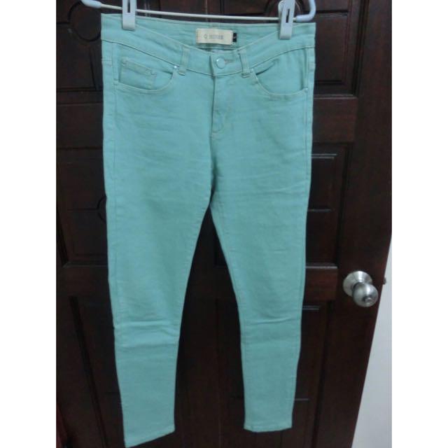 淺綠長褲~S號