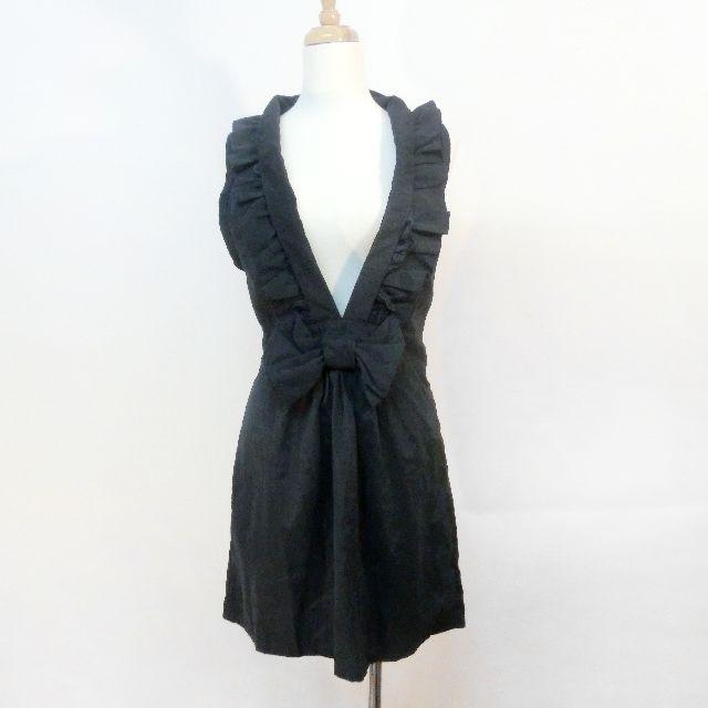 黑色V領洋裝