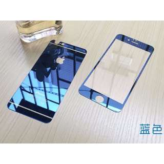 iPhone6 plus 電鍍彩色鏡面鋼化玻璃膜(前後) 玻璃貼 保護貼 5.5