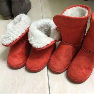 🍬橘色毛靴🍭