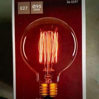 Edison bulb with fabric cord unit