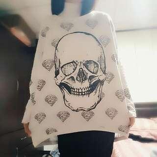 3D骷髏頭鑽石棉衣