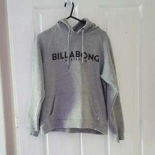 Grey Billabong Hoodie, Size 8