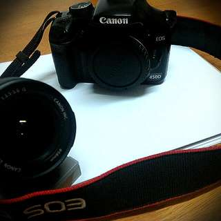 Canon 450D +18-55mm原廠鏡頭(送lowepro原廠包)