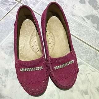 Anns 麂皮流蘇增高鞋