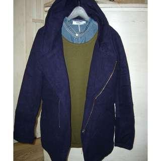 長版毛料大衣外套