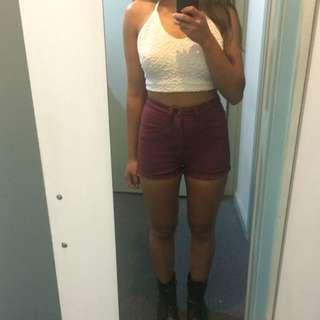 LEE high Wasted Denim Shorts!!