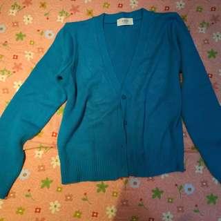 藍色小罩衫 九成新