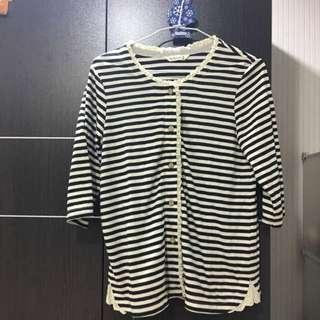 (二手)七分袖棉質上衣