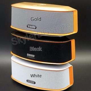 (In Stock) GS809  bluetooth, AUX, SD card, FM radio, USB heavy duty speaker