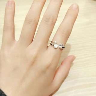 正韓 戒指 雙圈小珍珠款