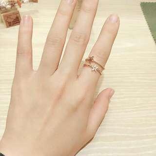 正韓 戒指 小花鑽款