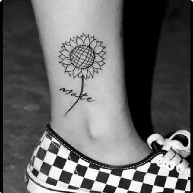向日葵刺青貼紙