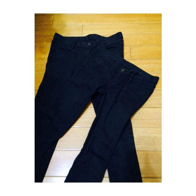 正韓絕對顯瘦歐妮款質感黑色長褲