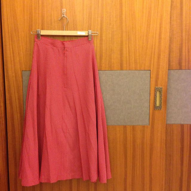 二手。日本下北澤購入水玉點點高腰長裙