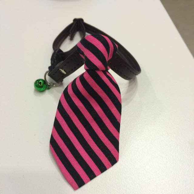 全新手工皮質領帶鈴鐺🔔項圈