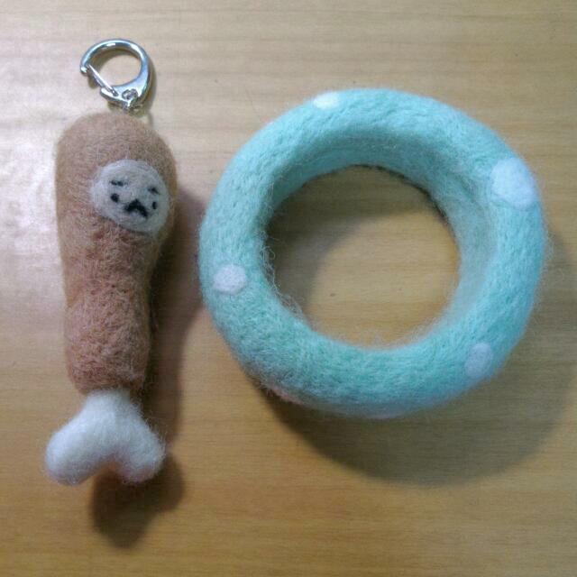 羊毛氈 吊飾 手環