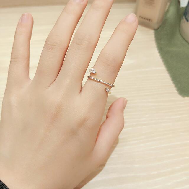 正韓 戒指 線圈帶大小鑽