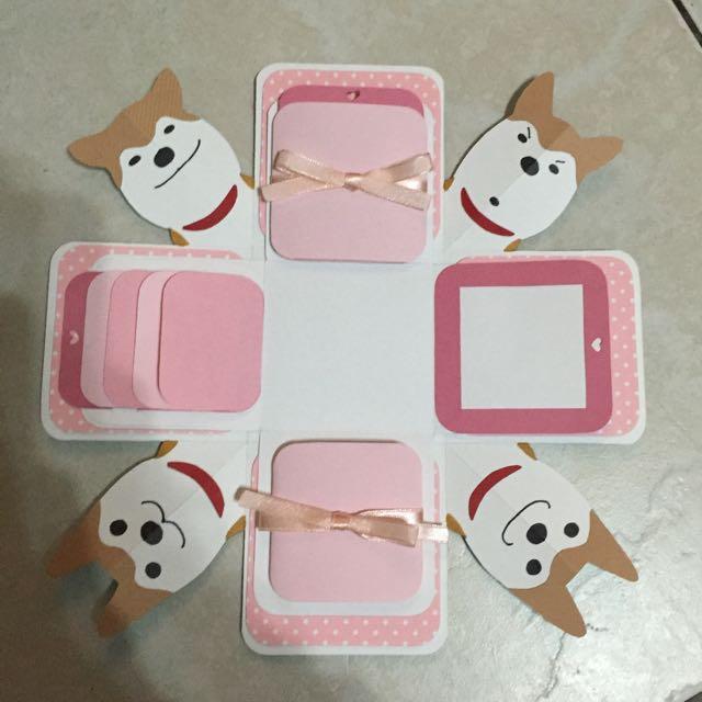 客製化盒子卡片 (柴犬 機關x4)