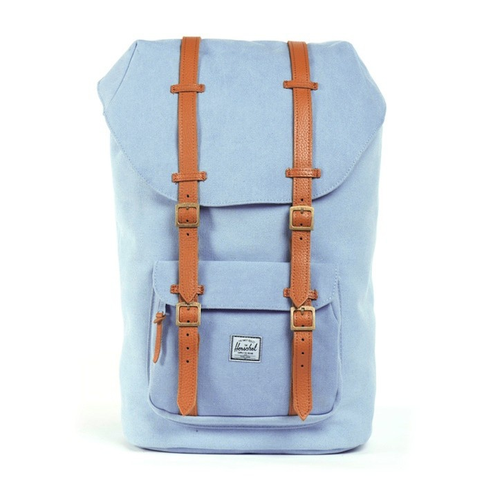 12815ad6205 Herschel Supply The Little America Mid Volume Backpack in Steel Blue ...