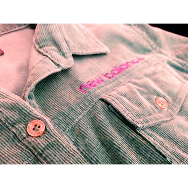 💫New Balance絨布軍綠色襯衫💞