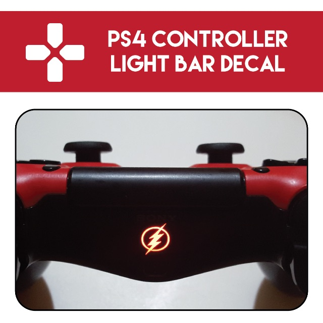 Ps4 controller light bar decal the flash toys games on carousell photo photo photo aloadofball Image collections