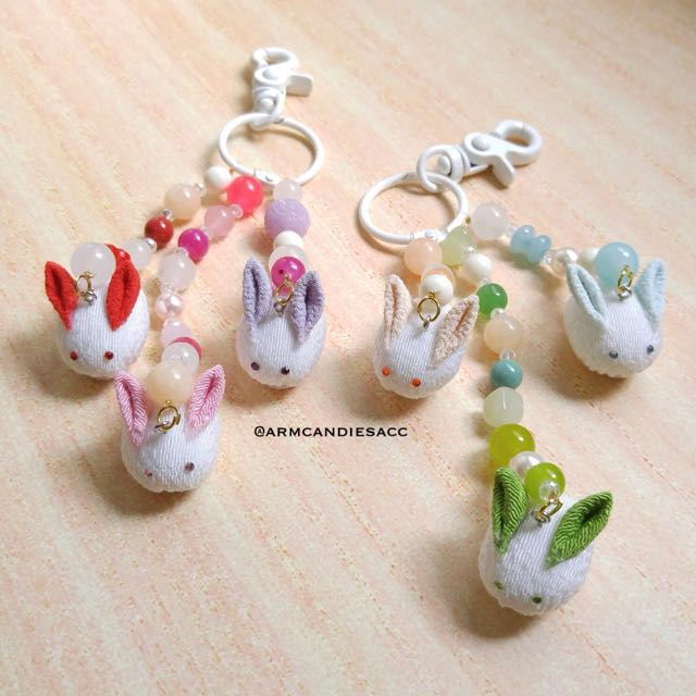 Puffy Rabbit Bagcharm