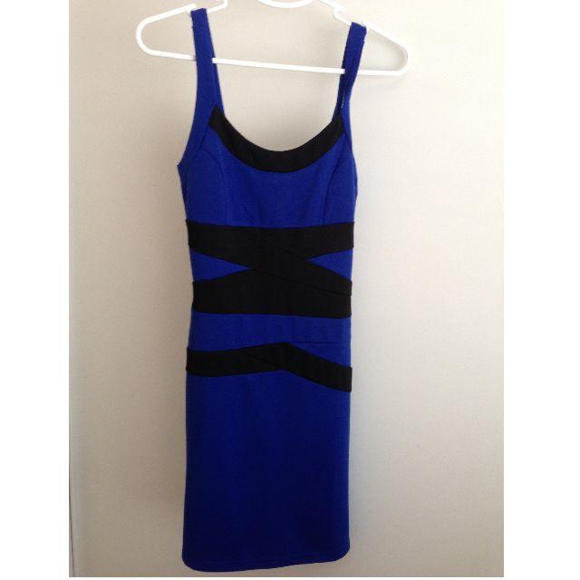Royal Blue Bodycon Dress - Size S