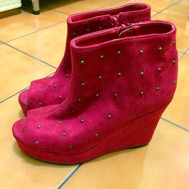 二手👍🏻日牌W❤️C麂皮卯釘魚口械型鞋