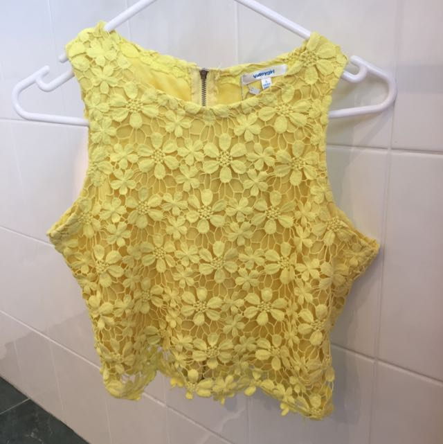 Yellow Valley Girl Top