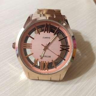 ✌🏻二手✌🏻️防水玫瑰金手錶