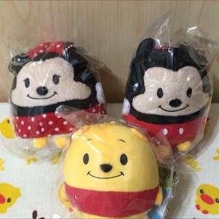 👍日本版迪士尼圓滾滾球型吊飾-米奇