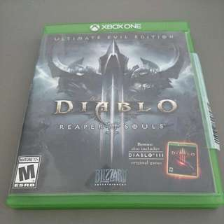 Xbox One Diablo 3 Ultimate Evil Edition Reaper Of Souls Game