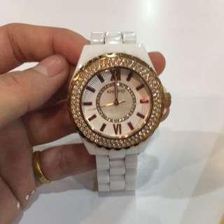 Goto 經典配色玫瑰金 陶瓷錶
