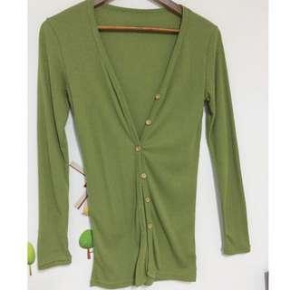 木釦長版棉質罩衫
