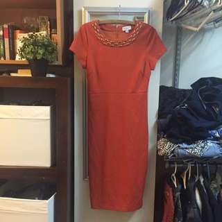 Burnt Orange Queens Park Dress!