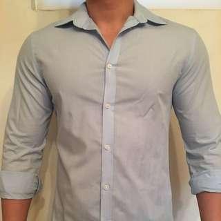 H&M 淺藍襯衫