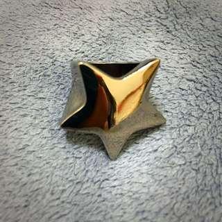 💍銀黑色星星戒指💍