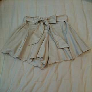 韓製好質感褲裙 側拉鏈