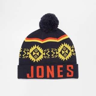 Jack&Jones 幾何圖騰針織毛球毛帽